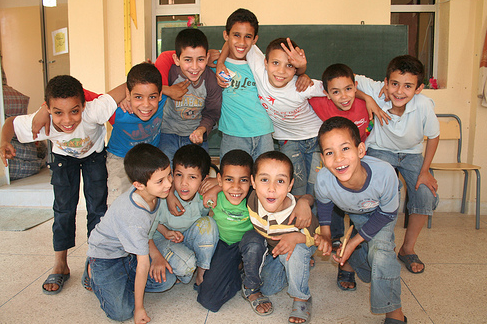 boys in moroccan orphanage
