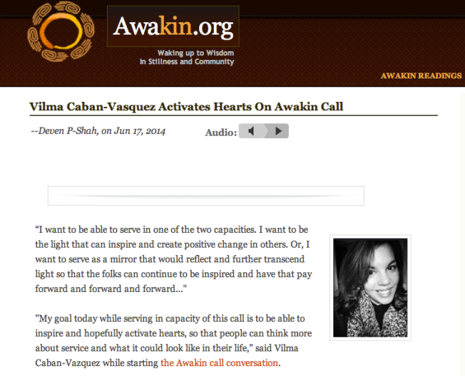 Awakin Call Blog Update