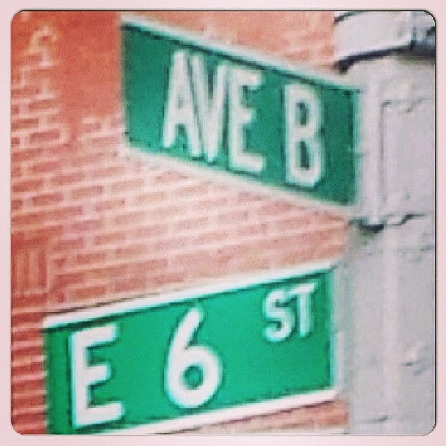 Ave B, East 6th Street