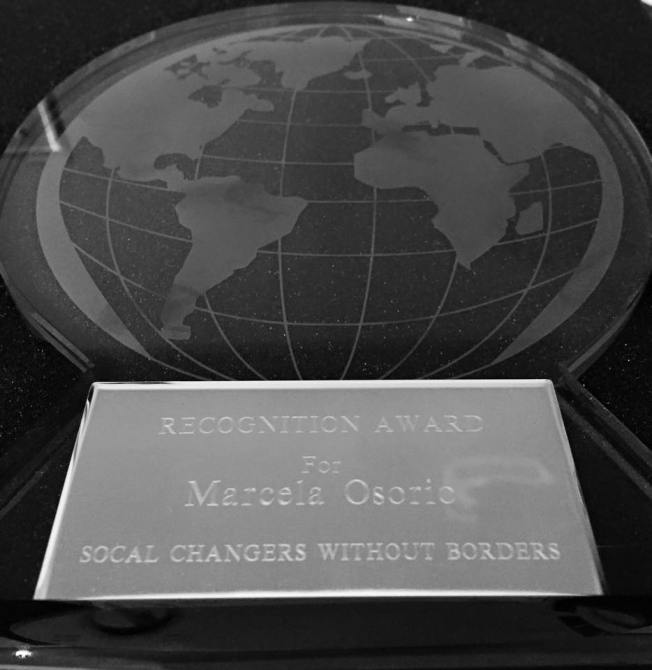 Marcela's SCWB Recognition Award