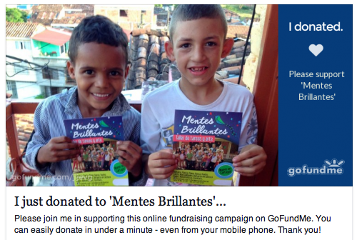 Mentes Brillantes Fundraising Campaign